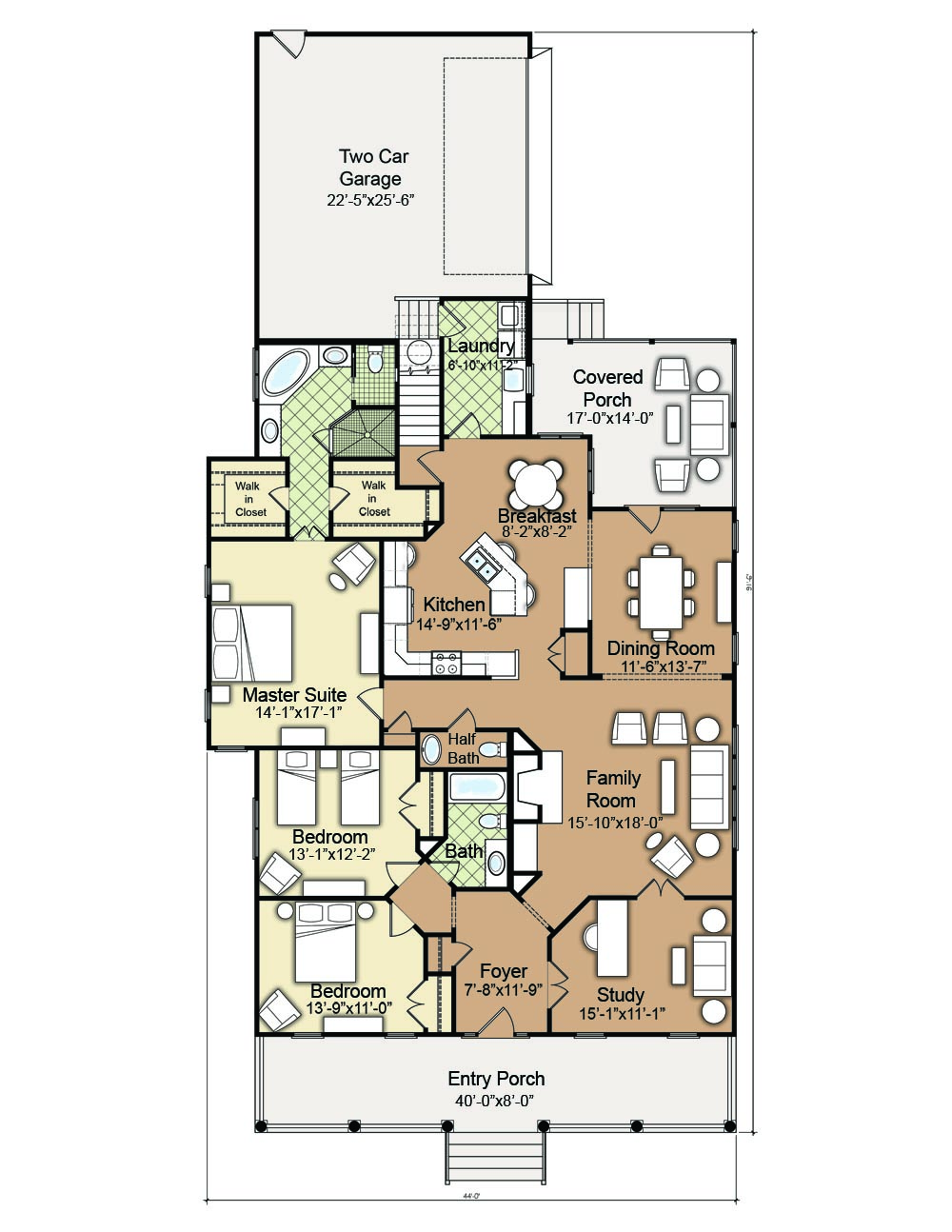 Wilmington Cottage House Plan I Small Cottage House Plan